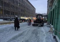 Уборка снега в ленинском районе